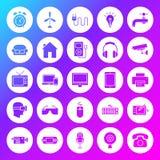 Icônes solides de cercle d'appareil électroménager Photo stock