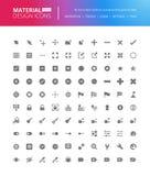 Icônes solides de conception matérielle réglées illustration stock