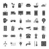 Icônes solides de Web d'appareil électroménager Image stock