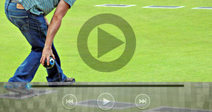Icônes sportives de clip vidéo illustration libre de droits