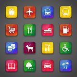 Icônes sur des boutons Photo libre de droits