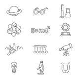 Icônes sur la physique Photographie stock