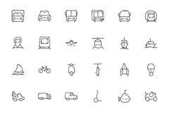 Icônes tirées par la main 1 de griffonnage de transport Image libre de droits