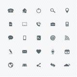 Icônes universelles d'ensemble Images libres de droits