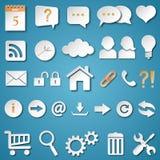 Icônes universelles de Web réglées Photographie stock libre de droits