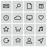 Icônes universelles noires de vecteur Photographie stock libre de droits