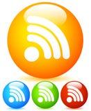 Icônes vibrantes de forme générique de signal ou de flux RSS Illustration Libre de Droits