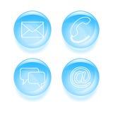 Icônes vitreuses de soutien Image stock