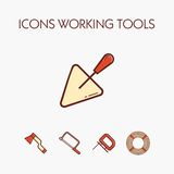 Icônes worcking des outils photo libre de droits