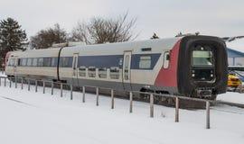 IC2 pociąg przyjeżdża Maribo pociągu sta Obraz Stock