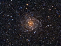 IC342 Spiral Galaxy. Imaged with a telescope and a scientific CCD camera royalty free stock photos