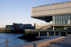 ICA at Boston at sunset Stock Photography