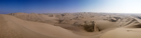 Ica desert panorama, Peru Royalty Free Stock Images