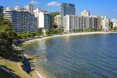 Icarai plaża w Niteroi obraz stock