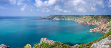 Icart point panorama Guernsey Royalty Free Stock Image