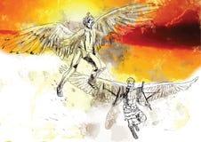 Icarus en Deadalus Stock Afbeeldingen