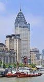 ICBC银行在一个历史大厦,上海,中国总部设 库存图片