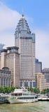 ICBC acquartiera in una costruzione coloniale, Shanghai, Cina Immagine Stock Libera da Diritti