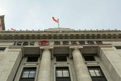 ICBC-bank på bunden i Shanghai, Kina royaltyfria bilder