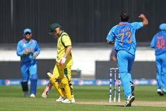 ICC冠军战利品准备比赛印度v澳大利亚 免版税图库摄影