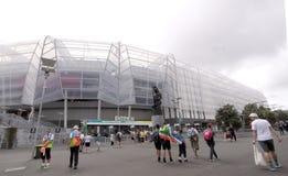 ICC板球世界杯2015爱好者伊甸园公园体育场 免版税库存照片