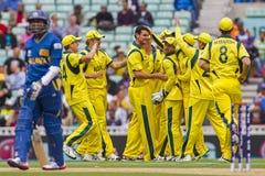 ICC τρόπαιο Σρι Λάνκα και Αυστραλία πρωτοπόρων Στοκ φωτογραφία με δικαίωμα ελεύθερης χρήσης