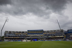 ICC Champions Trophy India v Pakistan. EDGBASTON, ENGLAND - June 15 2013: A general view of the ground during a rain break at the ICC Champions Trophy cricket stock photography