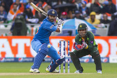 ICC Champions Trophy India v Pakistan. EDGBASTON, ENGLAND - June 15 2013: India's Shikhar Dhawan batting during the ICC Champions Trophy cricket match between stock image