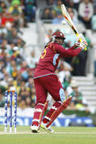 ICC Champions Trophy Pakistan v West Indies. LONDON, ENGLAND - June 07 2013: West Indies Chris Gayle batting during the ICC Champions Trophy cricket match royalty free stock photos