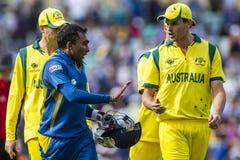 ICC Champions Trophy Sri Lanka and Australia Royalty Free Stock Image