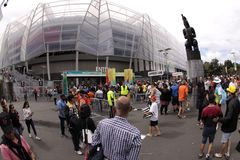 ICC Cricket World Cup 2015 Crowd Semis NZA vs RSA Stock Photography