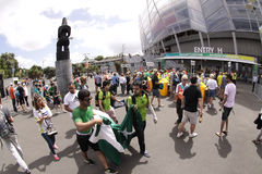ICC Cricket World Cup 2015 Fans Eden Park Stadium Stock Images