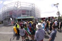 ICC Cricket World Cup 2015 Fans Eden Park Stadium Stock Photography