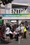 ICC Cricket World Cup 2015 Fans Eden Park Stadium Stock Photos