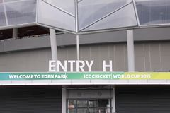 ICC Cricket World Cup-Ort 2015 Eden Park Stadium Lizenzfreies Stockfoto