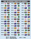ICC Cricket World Cup 2019 Schedule stock illustration
