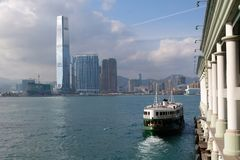 ICC, West Kowloon, Hong Kong. ICC, the highest building in Hong Kong. West Kowloon, Hong Kong Stock Image