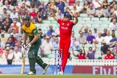 ICC mästaretrofé halva sista England V Sydafrika Arkivfoton