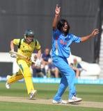 ICC Meister-Trophäen-Aufwärmen-Match Indien V Australien stockfotografie