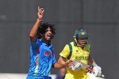 ICC mistrza trofeum Grże Up Zapałczanego India v Australia Obrazy Royalty Free