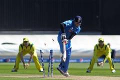 ICC mistrza trofeum Grże Up Zapałczanego India v Australia Fotografia Stock