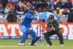 ICC mistrza trofeum India v Pakistan obraz stock