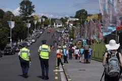 ICC productos semielaborados NZA de la muchedumbre del mundial 2015 del grillo contra el RSA Foto de archivo