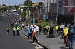 ICC productos semielaborados NZA de la muchedumbre del mundial 2015 del grillo contra el RSA Fotos de archivo libres de regalías
