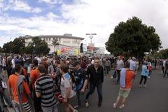 ICC semi NZA della folla della coppa del Mondo 2015 del cricket contro il RSA Immagine Stock