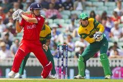 ICC trophée Angleterre semi finale v Afrique du Sud de champions Photos stock