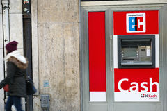 ICCash cash machine Royalty Free Stock Image