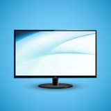 Icd för plan skärm för TV illustration Arkivfoto