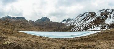 Ice湖在喜马拉雅山,尼泊尔 库存照片