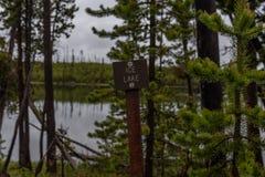 Ice湖签到黄石原野 库存照片